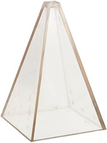 1ピースキャンドル型ピラミッドPCプラスチック素材手芸DIY - 6.3x6.3x10 cm