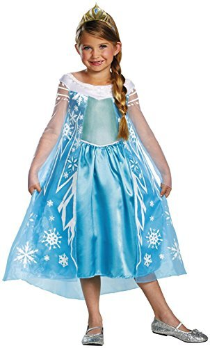 In Character Halloween Costumes (Disney Frozen Elsa Deluxe Costume, 10-12)