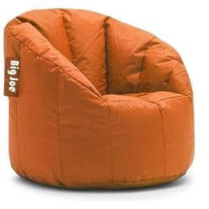 Big Joe Milano Bean Bag Chair, Multiple Colors (Competitive Orange)