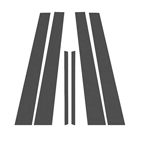 Matte Flat Black Pillar Post Trim Cover fits: 1997-2003 Pontiac Grand Prix 4 Door Sedan - Ferreus Industries - PIL-131-MB