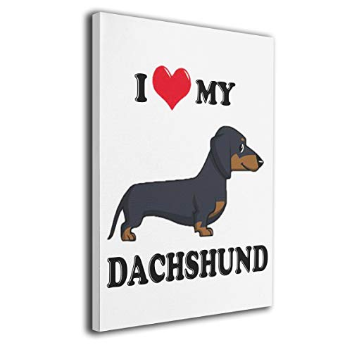 (Perfect Art I Love My Dachshund Dog)