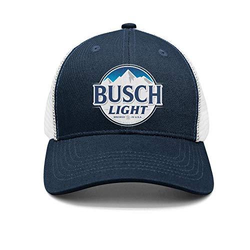 Cool Busch-Light-Beer-Sign- Snapback Hats Vintage mesh Cap