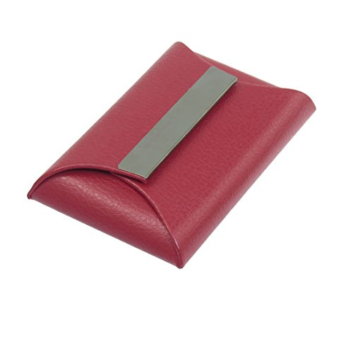 Faux Leather Envelope Shape Magnetic Business Name Card H...