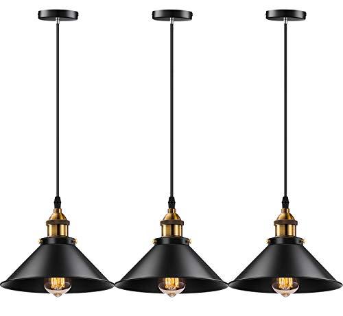 Licperron Industrial Pendant Light E26 E27 Base Vintage Hanging Pendant Lights Retro Pendant Light Fixture Home Kitchen Lighting 3 Pack On Galleon Philippines