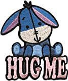 Disney Cuties Winnie The Pooh Eeyore Hug Me Embroidered Iron On Patch DS-203