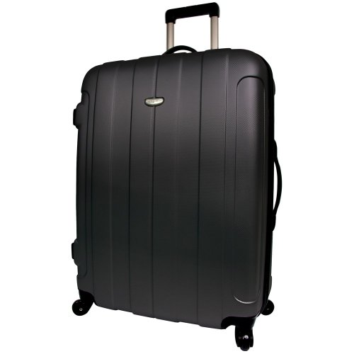 Travelers Choice Rome 25″ Hardside Spinner Upright Rolling Luggage – Black, Bags Central
