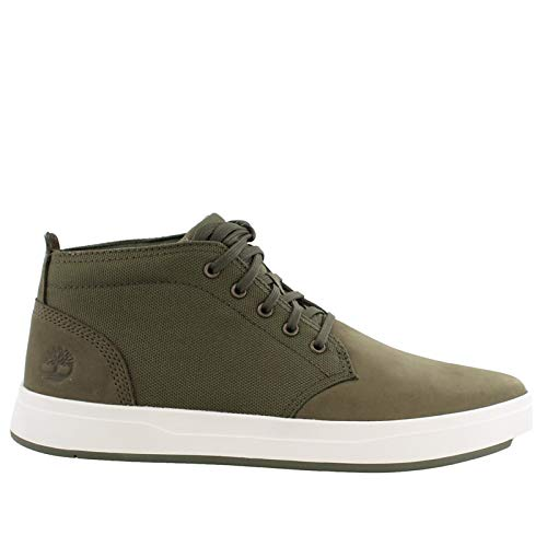 - Timberland Mens Davis Square Chukka Dark Green Nubuck Boot - 11