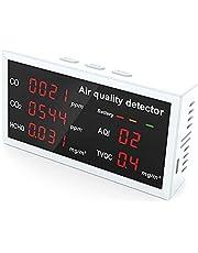 Ctzrzyt Indoor Air Kwaliteit Monitor Oplaadbare voor Maldehyde CO CO2 HCHO TVOC Detector Real Time voor Auto Home Office