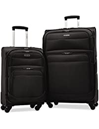 """Upspin Lightweight Softside Set (21""""/29""""), Only at Amazon, Black"""
