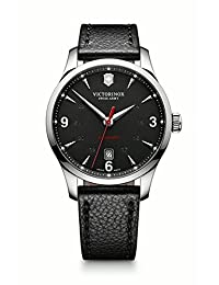 Victorinox Swiss Army Men's Alliance 241668 Black Leather Swiss Automatic Watch