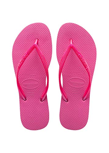 Havaianas Toddler Slim Flip Flop Sandal, Shocking Pink, 13/1 M US Little Kid (Havaianas Pink)