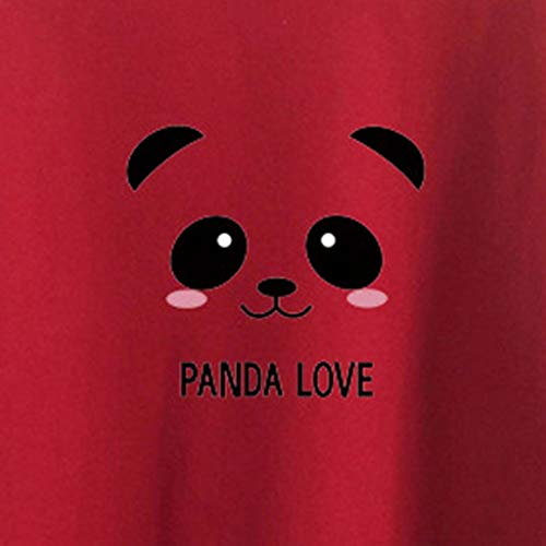 Tops Panda women Mujer Sudadera Para Wine Giulogre gR17qn