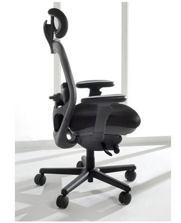 - Mesh Back CXO Heavy Duty Big and Tall Office Chair Fabric: Mystic black, Headrest: Included