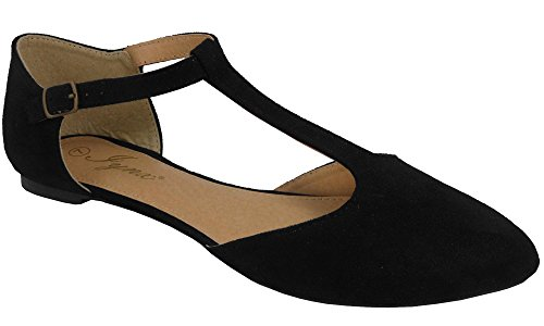 081475775ab Jual Jynx Women s Mary Jane T-Strap Pointed Toe Ballet Flat - Flats ...