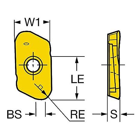 Sandvik Coromant R790-160440PH-PL 1130 Coro Mill 790 Insert for Milling Zertivo Technology Wiper Pack of 10 Carbide AlTiCrN 1130 Grade Right Hand Cut