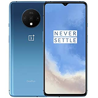 "OnePlus 7T (128GB, 8GB) 6.55"" AMOLED 90Hz Display, Snapdragon 855+, T-Mobile Unlocked Global 4G LTE GSM (AT&T, Metro, Cricket) (Glacier Blue)"