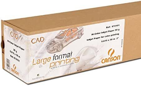 Canson Draftjet 872101 - Rollo de papel para imprimir a color, 0.610 x 50 m, 90 g/m², (1 unidad): Amazon.es: Electrónica