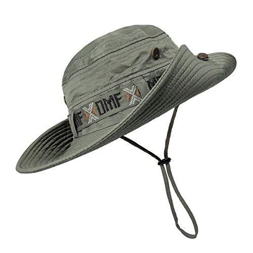 2bb47777de60c Fishing Hat Boonie Hat Summer Wide Brim Bucket Hat Sun UV Protection Safari  Cap Outdoor Waterproof