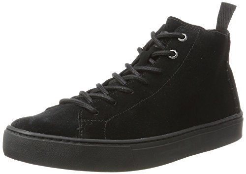 TOMS Black Suede Men's Lenox Mid Sneakers Shoes ()