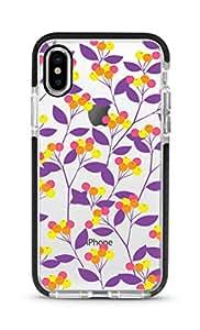 Stylizedd apple iPhone XS Max Cover Impact Pro Black Military Grade Dual Layer Case - Purple Spring