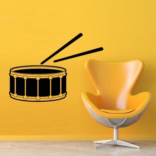 Wall Decal Sticker Vinyl Music Style Drum Bass Impact Installation Artist ()