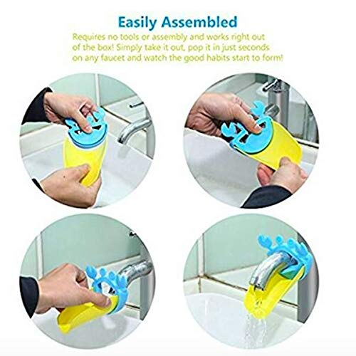 5 Ps Animal Faucet Extender for Kids Sink Hand Washing PerfectFor Your Life w/Duck+Elephant+Dolphin+Crab+Leaf