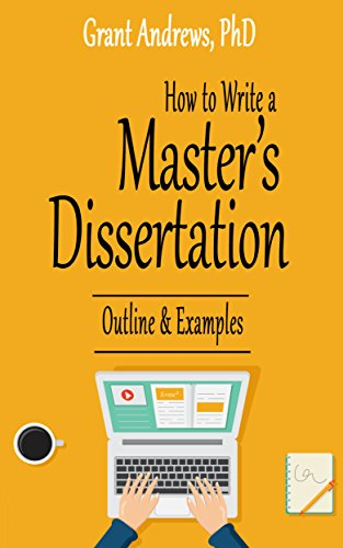 amazoncom how to write a masters dissertation outline and  follow the author