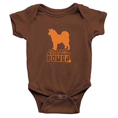 [Teeburon Alaskan Malamute POWER Baby Bodysuit] (Alaskan Malamute Power Dog)