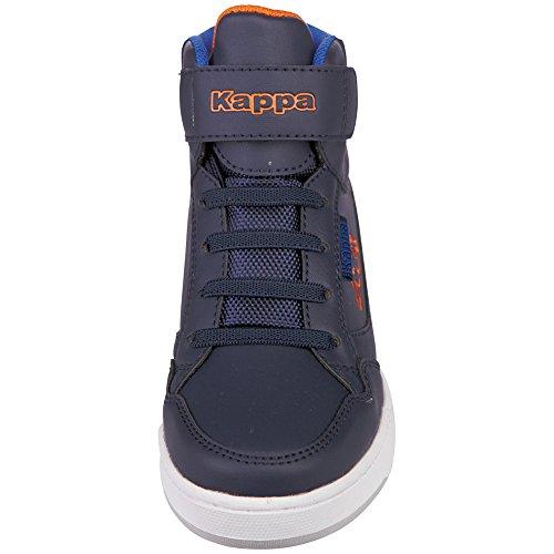 Kappa Unisex-Kinder Forward Mid Kids High-Top Blau (6744 navy/orange)