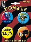 Zombie 4pc Button Set 81633BT4