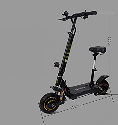 JIAWE Mini Scooter eléctrico, Patinete Scooter Adulto ...