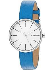 Skagen  Womens  SKW2597 Signatur Blue Leather Watch