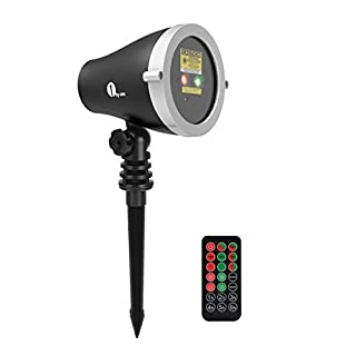 1byone Christmas Outdoor Laser Light Projector with Wireless Remote Controller, Class IIIA, 2.0mWA, Aluminum Alloy Red and Green Stars Show for Xmas, Parties, Landscape or Garden Decoration - Black (B01EV4OGAU) | Amazon price tracker / tracking, Amazon price history charts, Amazon price watches, Amazon price drop alerts