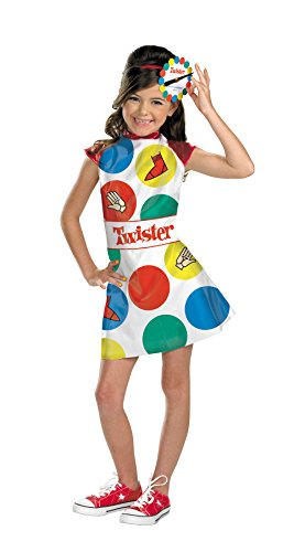 Girls Twister Kids Child Fancy Dress Party Halloween Costume, M (7-8) - Twister Girl Halloween Costume