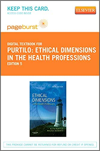 Ethical Dimensions in the Health Professions - Elsevier