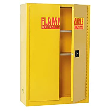 Sandusky Lee Compact Flammable Safety Cabinet 43in.W x 18in.D x 65in.H, Model# SC450F