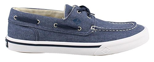 Boat Sneaker (Sperry Top-Sider Men's Bahama II Boat Washed Sneaker, Navy, 8.5 Medium US)