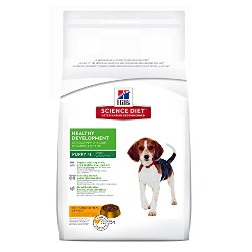 Digest Fish Meal (Hill's Science Diet Puppy Healthy Development with Chicken Meal & Barley Dry Dog Food, 30 lb bag)