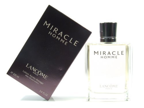 Lancome Miracle Homme Aftershave 100ml Splash by (Miracle After Shave)