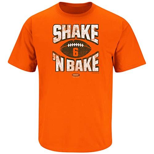 Cleveland Football Fans. Shake N Bake Orange T-Shirt (Sm-5x) (Short Sleeve, Large)