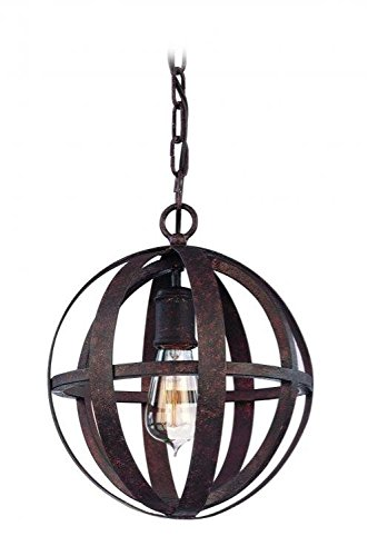 Weathered Iron Finish Pendants - Troy Lighting Flatiron 1-Light Pendant - Weathered Iron Finish
