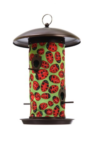 Toland Home Garden Ladybugs 14.5 x 9.5-Inch Decorative 4-Port Hanging Art Wild Bird Seed Feeder 202046 by Toland Home Garden
