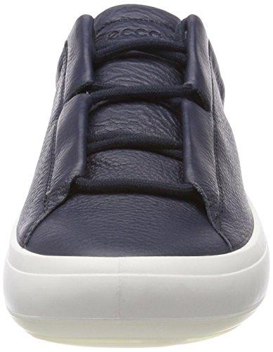 Avec Kinhin Blanc Blau Semelle tan Ecco Marine Chaussure Veg Herren Swq50Uxg