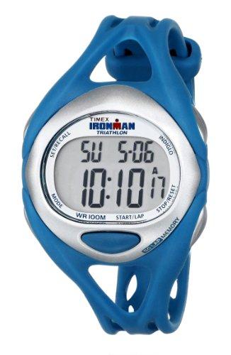 Timex Women's T5K7609J Ironman Sleek 50-Lap Teal Resin Strap Watch