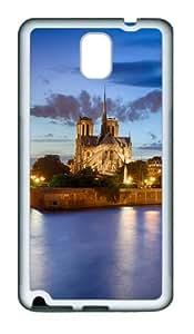 Notre Dame Scenery TPU Custom Samsung Galaxy Note 3/Note III/N9000 Case and Cover - White