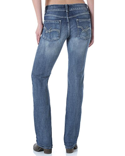 Wrangler Women's Premium Patch Mae Jean-Sits above Hip, Dark Indigo, 7x32