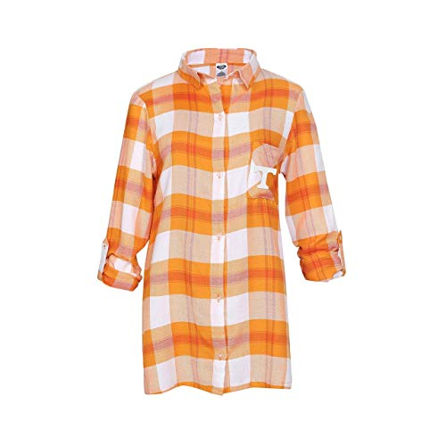 (Concept Sport Tennessee Volunteers Womens Long Sleeve Team Pride Flannel Button Up - Texas Orange, Womens Medium)