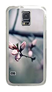 VUTTOO Rugged Samsung Galaxy S5 Case, Macro Pink Blooming Tree Flowers Polycarbonate Plastic Case Back Cover for Samsung Galaxy S5 I9600 PC Transparent