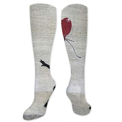Banksy's Girl With A Red Balloon Customized Socks