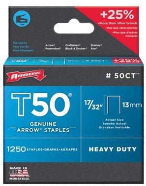 Arrow Fastener 50CT24 17/32'' T50 Staples
